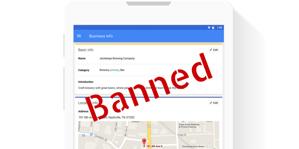 Google Local Listing Suspended